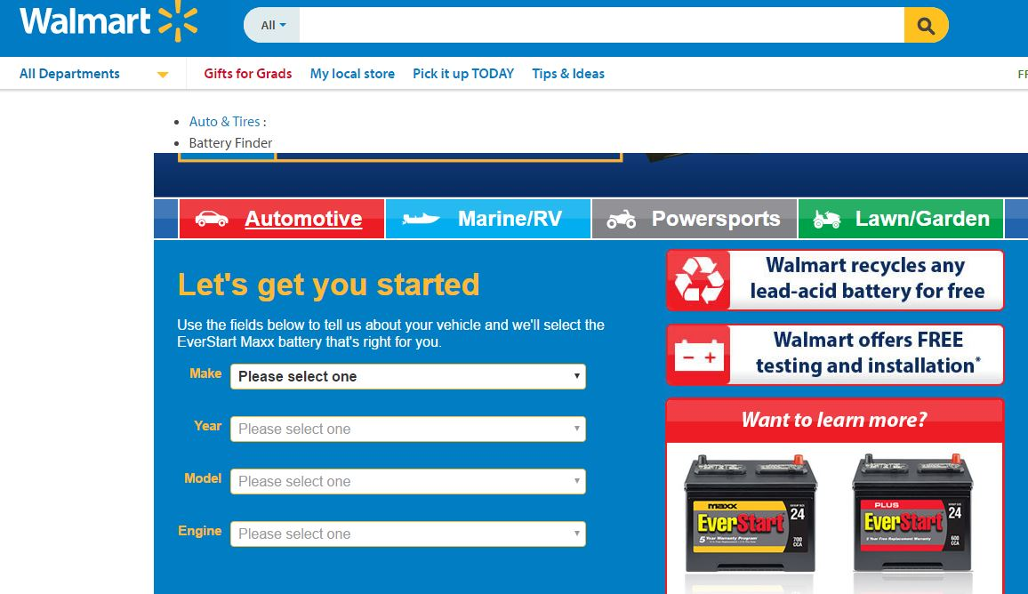 local stores that sell and install car batteries