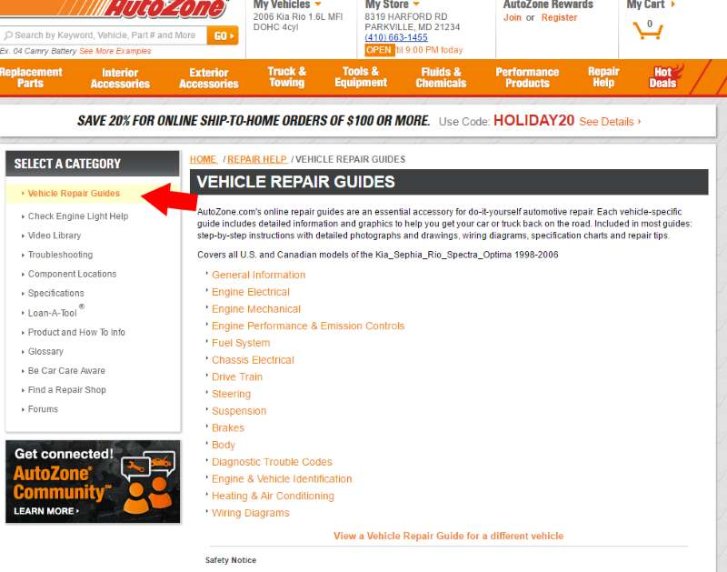 Top 5 Free Car Repair Help Websites border=