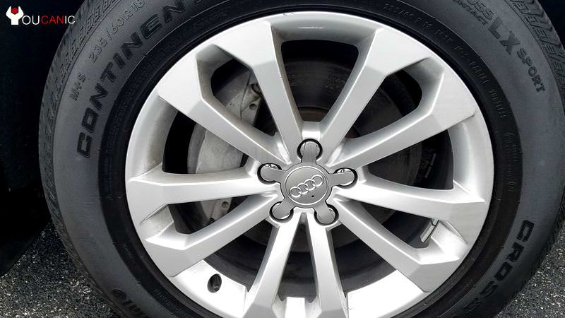 remove tire to replace tie rod on Audi A S Q TT models