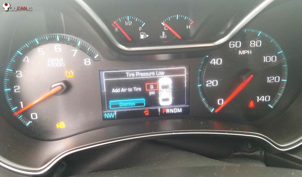 Instructions on how to reset Chevrolet  airbag light