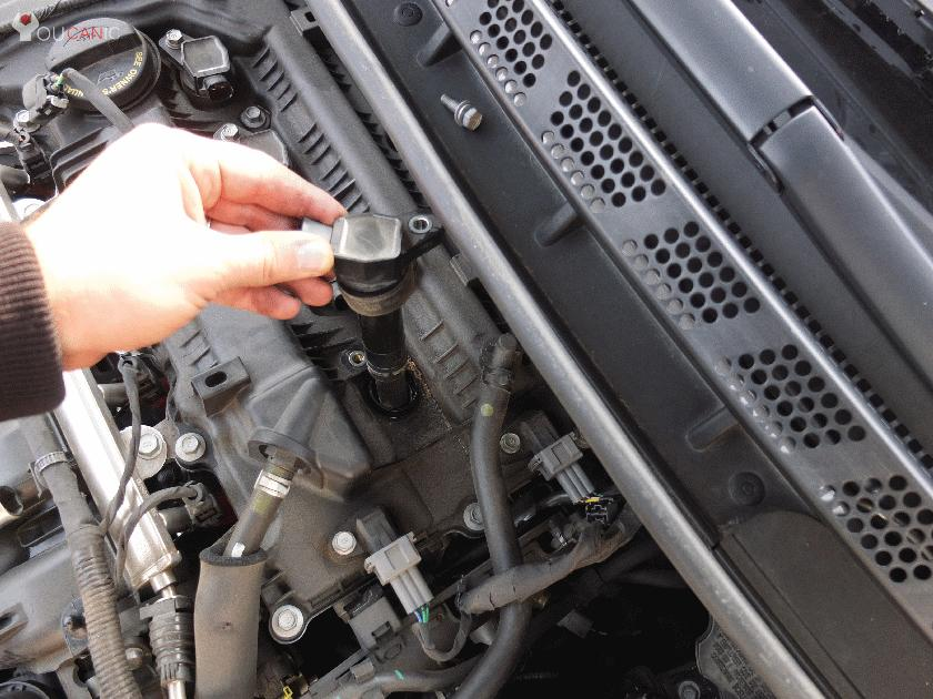 check engine light on due to bad ignition coil