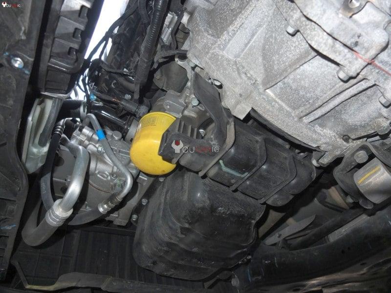 Расположение масляного фильтра двигателя Hyundai