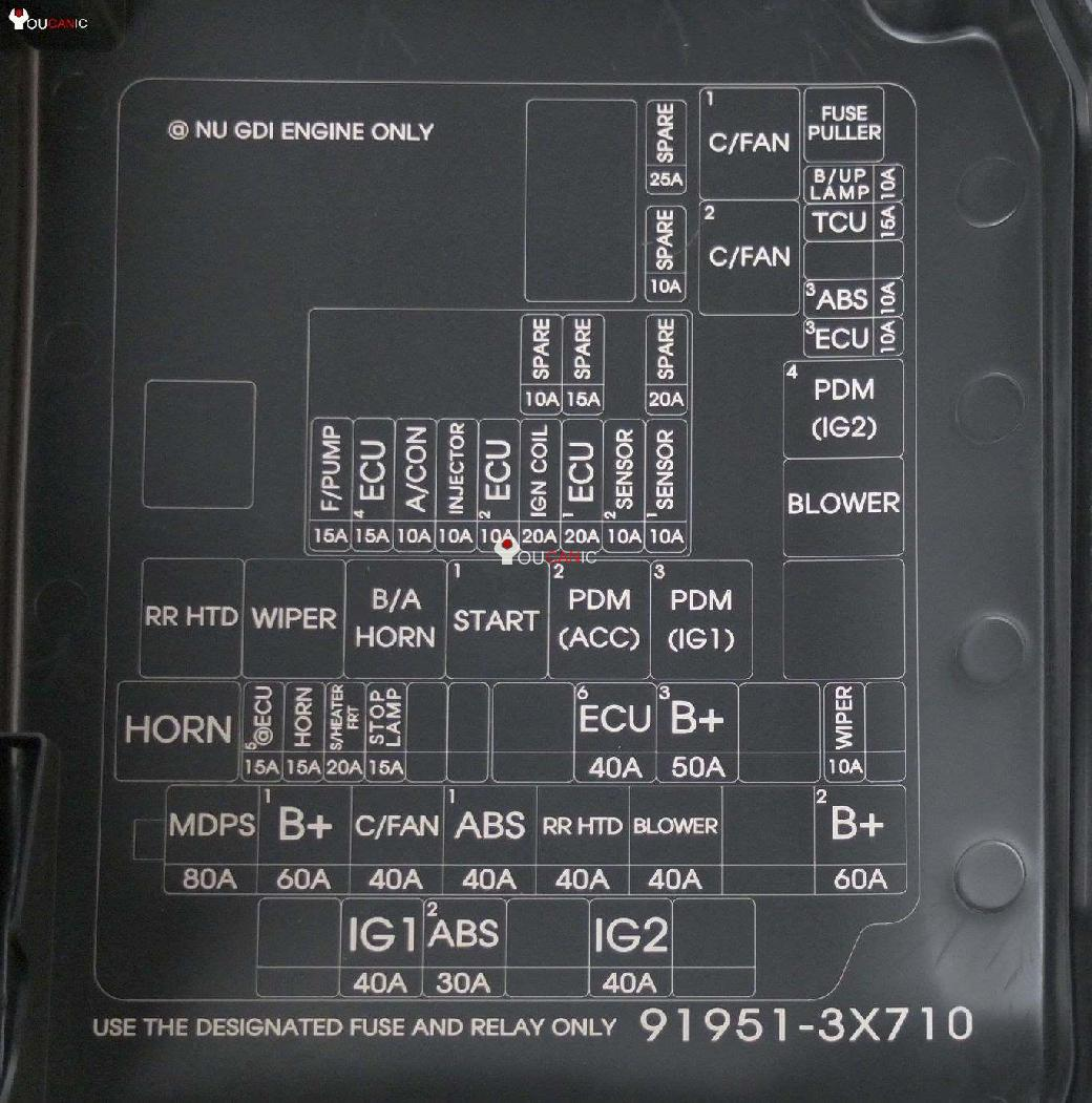 2 hyundai elantra fuses location, box, list, chart 2011 16 2002 Hyundai Elantra Fuse Box Diagram at fashall.co