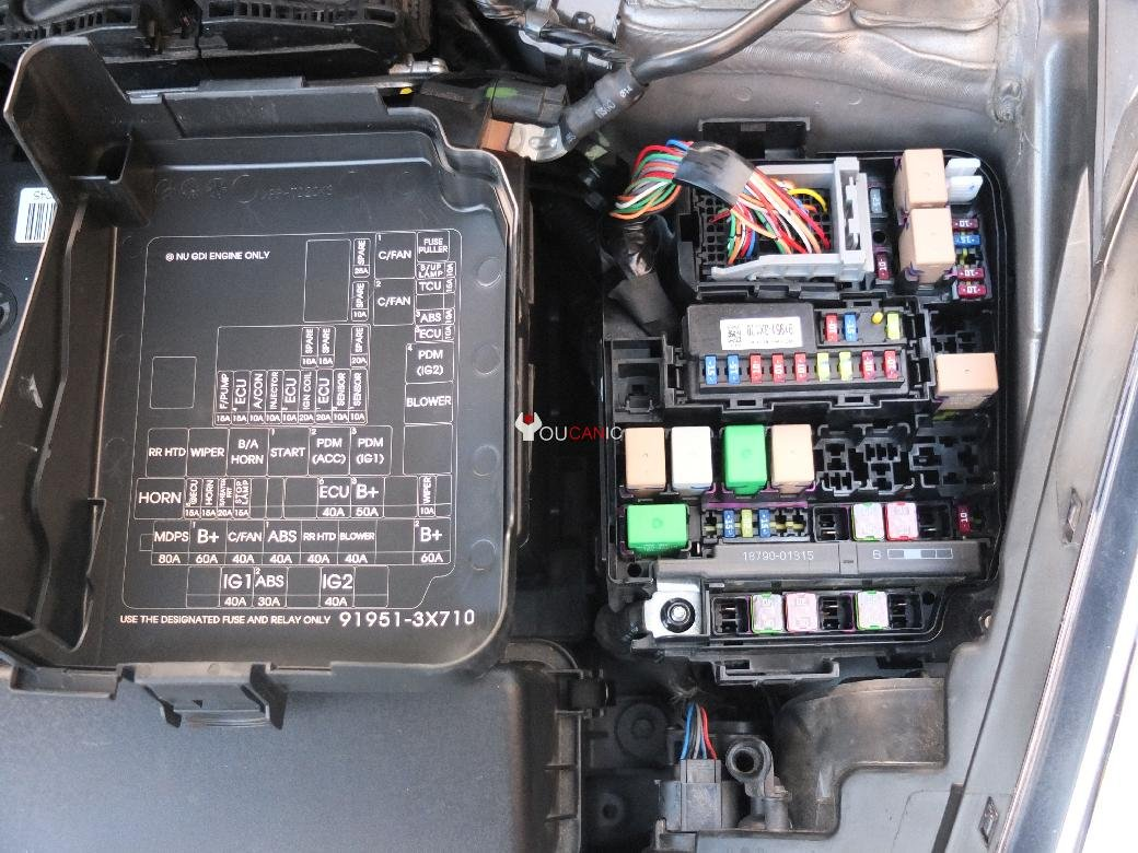 5 hyundai elantra fuses location, box, list, chart 2011 16 2012 hyundai accent fuse box at bayanpartner.co
