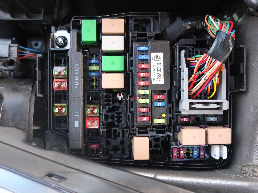 6 hyundai elantra fuses location, box, list, chart 2011 16 2012 Hyundai Elantra Fuse Box Diagram at bayanpartner.co