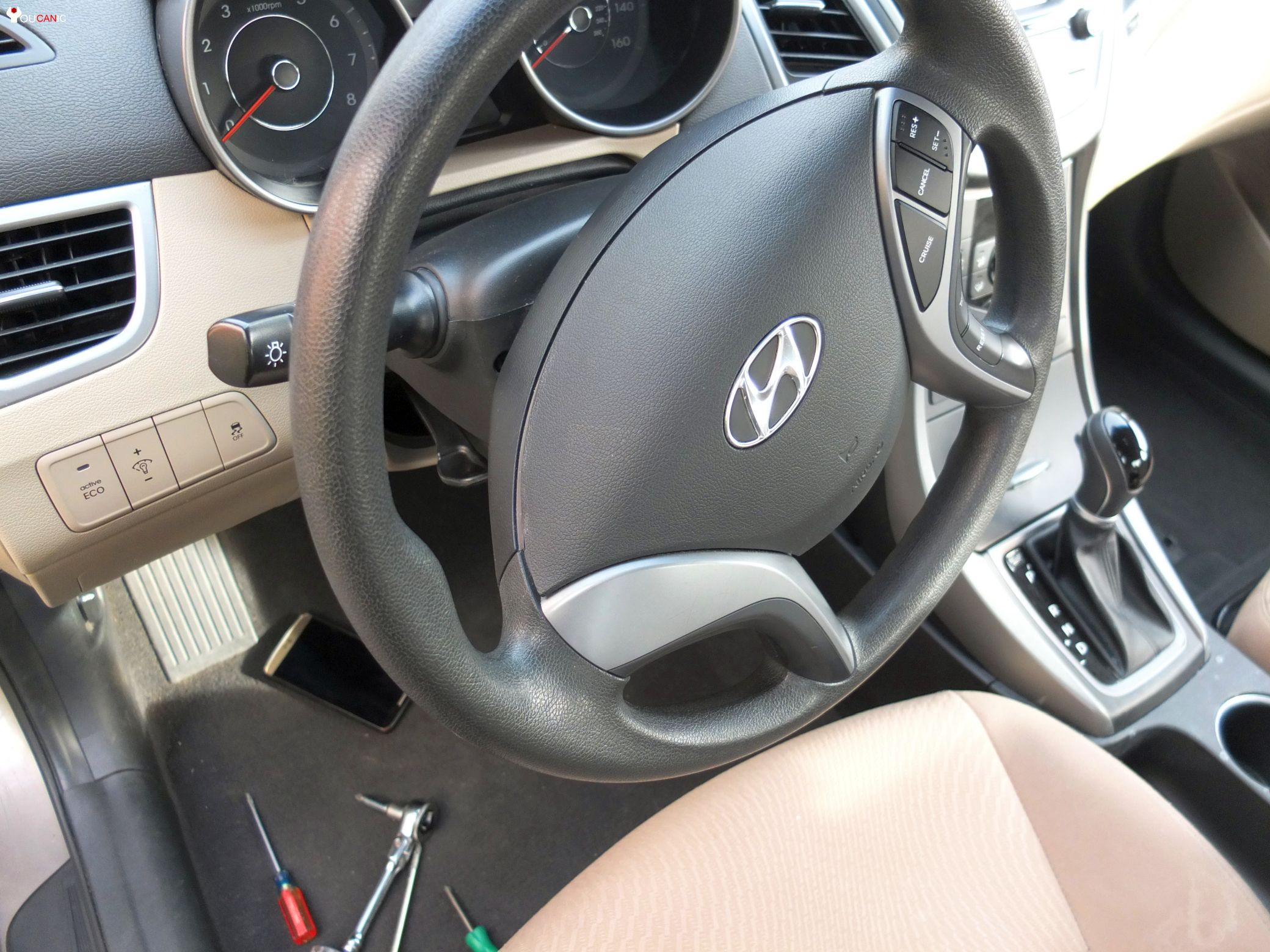 hyundai steering wheel removal how to