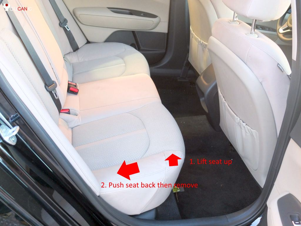 how to remove rear back seat hyundai kia