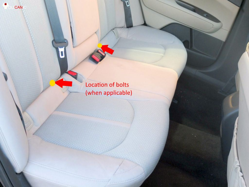 removing back seat hyundai sonata kia optima
