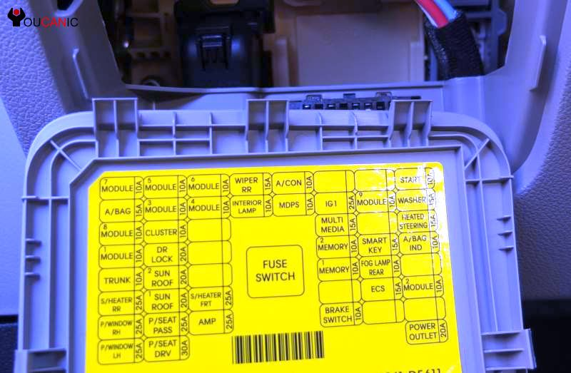 Fuse Location Chart Kia Optima