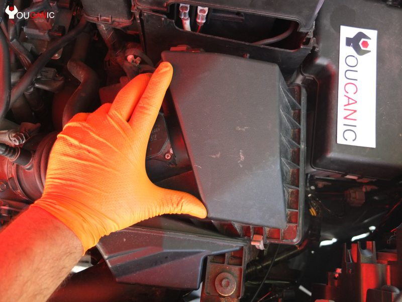 location of mazda engine air filter