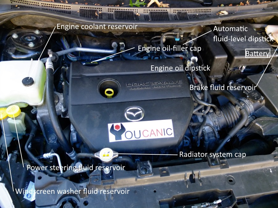 open hood to verify motor oil level on 5 2010 2011 2012 2013 2014 2015 2016 2017 2018