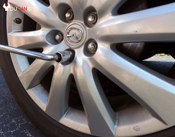mazda cx9 front brake pad and rotor replacement