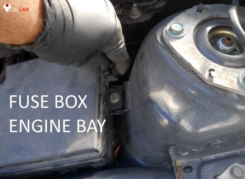 mazda 3 fuses under the hood engine bay cover box 04 fuse box mazda 3 2004 2008 complete list Mazda 3 Headlight Replacement Diagram at mifinder.co