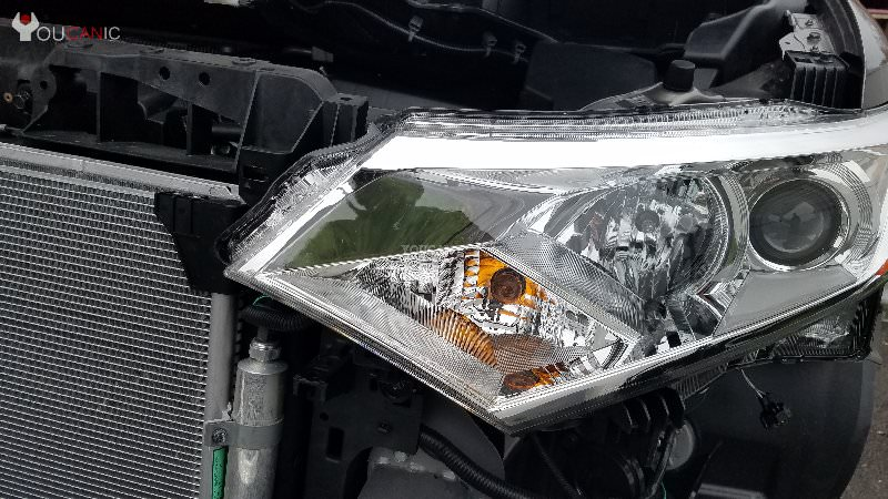 Nissan Quest install high beam   light bulb